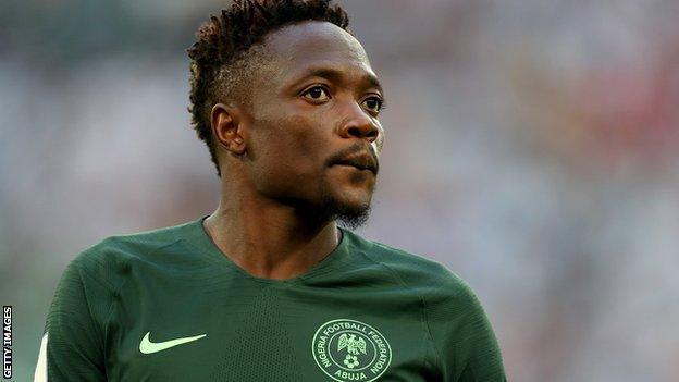 Nigeria forward Ahmed Musa