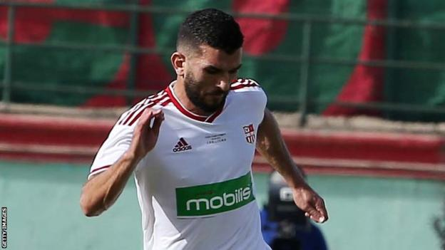 Amir Sayoud in action for Algerian club CR Belouizdad