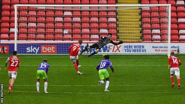 Cauley Woodrow scores a late penalty for Barnsley against Bristol City