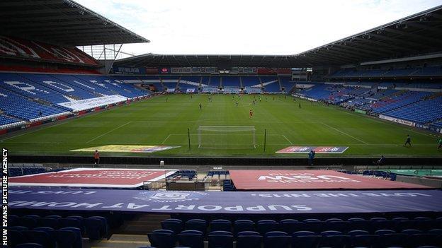 Empty Cardiff City Stadium