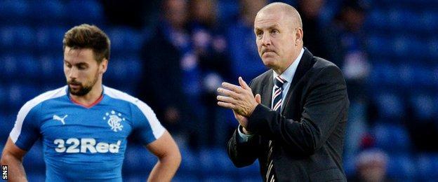 Rangers manager Mark Warburton