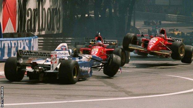 David Coulthard, Jean Alesi and Gerhard Berger