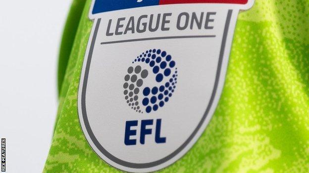 League One badge on shirt sleeve