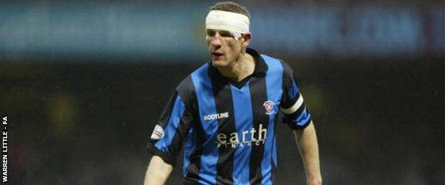 Veteran Morpeth Town defender Chris Swailes