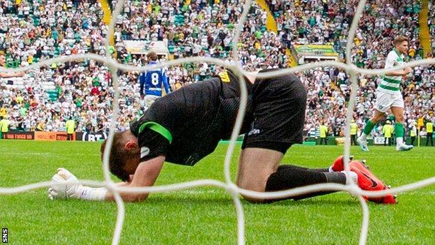 Zander Clark concede seven times in St Johnstone's Scottish Premiership opener against Celtic