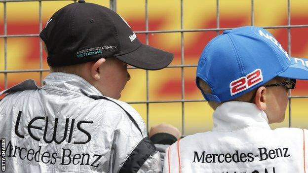 Young fans at the British Grand Prix