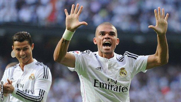Pepe at Real Madrid