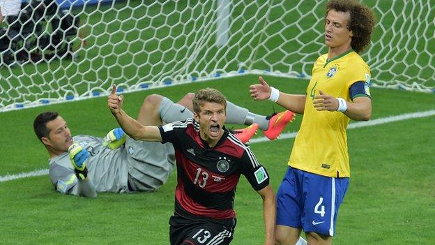 Thomas Muller was on target with his first shot of the match