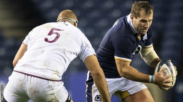Fraser Brown scored twice as he captained Scotland for the first time
