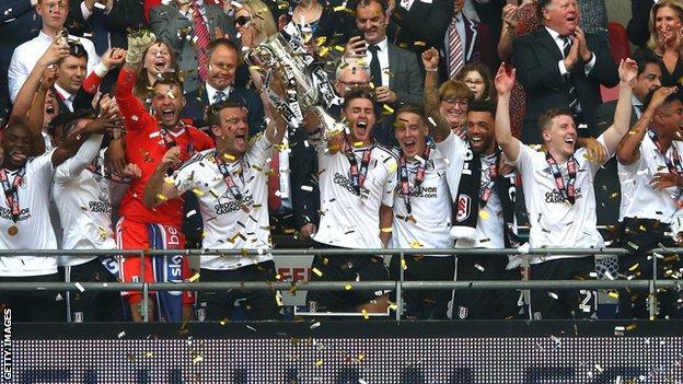 Fulham celebrate.