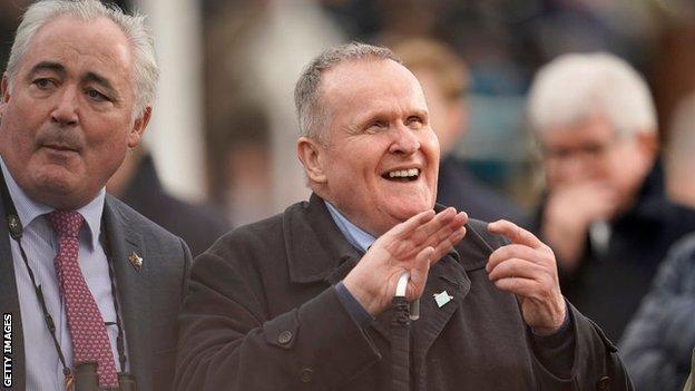 Owner Andrew Gemmell enjoys Paisley Park's Cheltenham triumph