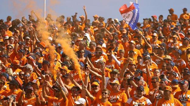 Aficionados al Gran Premio de Holanda