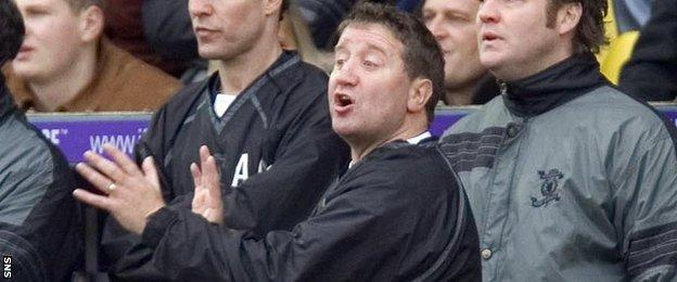 John Robertson during his time as Livingston manager
