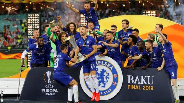 chelsea beat arsenal 4 1 to win europa league final bbc sport chelsea beat arsenal 4 1 to win europa