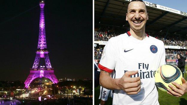Eiffel Tower and Zlatan Ibrahimovic