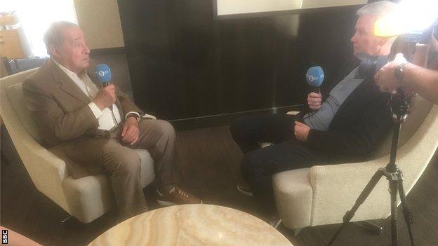 Mike Costello interviewing Bob Arum