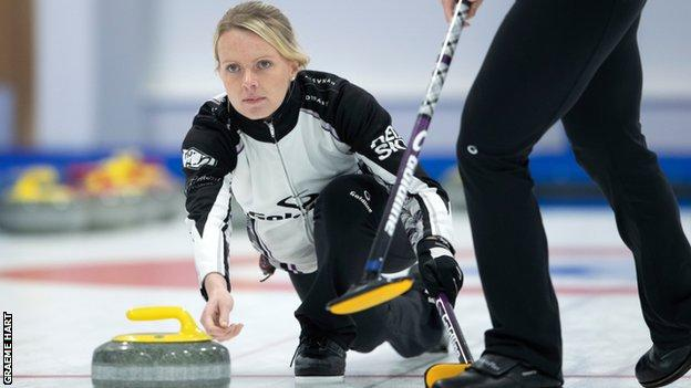 Vicky Wright in action at the European Championships last year