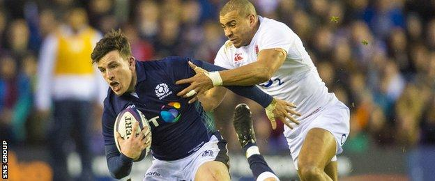 Matt Scott in action against England