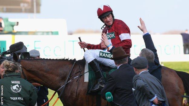 Davy Russell on Tiger Roll