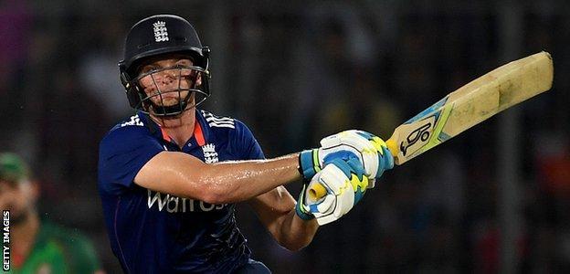 Jos Buttler bats during an ODI against Bangladesh