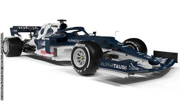 Alpha Tauri team unveil new AT02 car