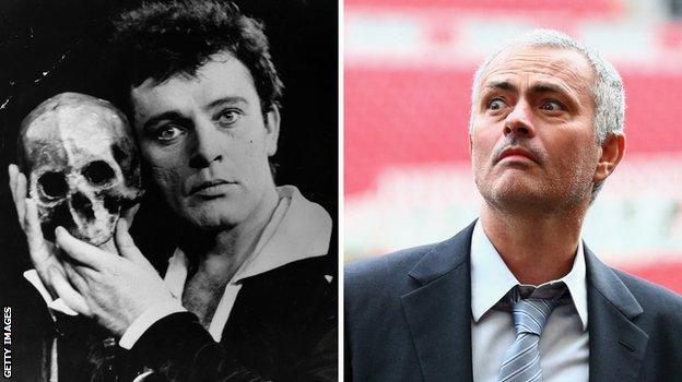 Jose Mourinho and Richard Burton as hamlet