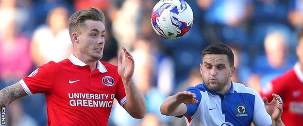 Charlton Athletic's Conor McAleny and Blackburn Rovers' Craig Conway