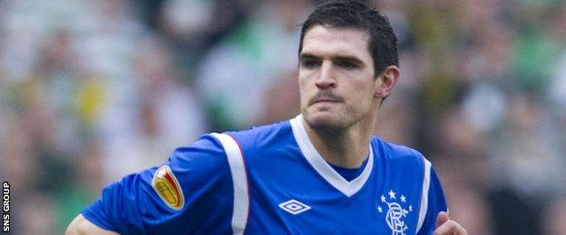 Kyle Lafferty in action for Rangers