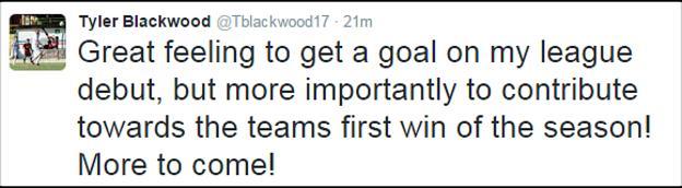 Tyler Blackwood tweet