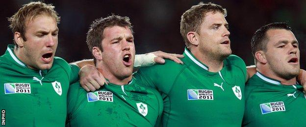 Stephen Ferris believes his former pack colleagues Sean O'Brien, Jamie Heaslip and Cian Healy have helped Ireland make a promising start to the World Cup