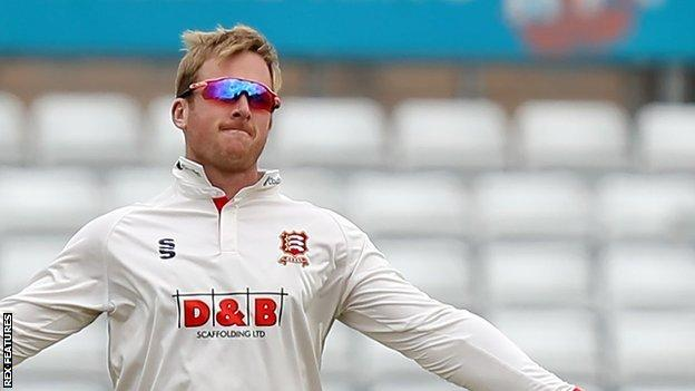 Essex spinner Simon Harmer's previous best first-class bowling figures were 9-95 prior to his 9-80 against Derbyshire
