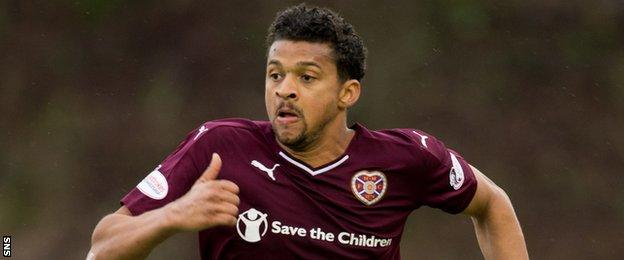Hearts striker Osman Sow