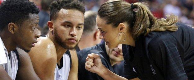 San Antonio Spurs assistant head coach Becky Hammon