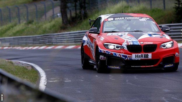 Junior BMW driver Dan Harper