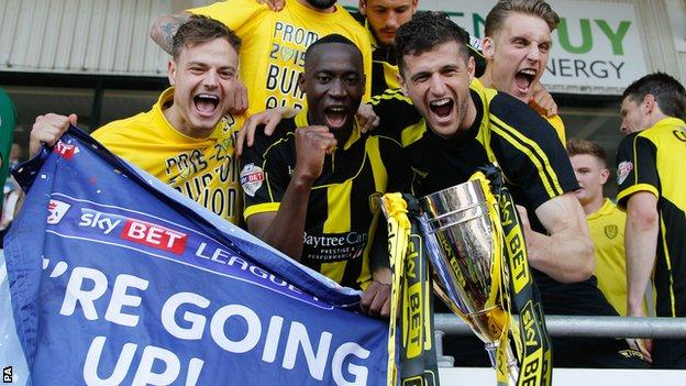 Burton celebrate promotion