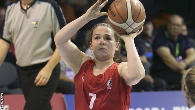 GB wheelchair basketball player Helen Freeman