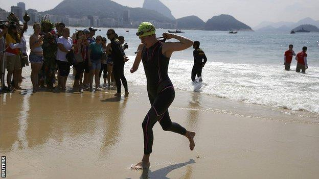 ParalympicsGB's Lauren Steadman during the paratriathlon at the Rio Paralympics