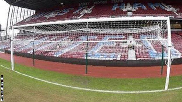 West Ham Boleyn Ground goalposts