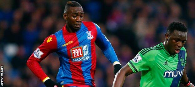 Crystal Palace forward Yannick Bolasie