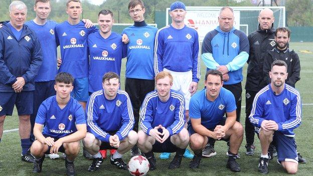 The squad is managed by former Northern Ireland star Mal Donaghy