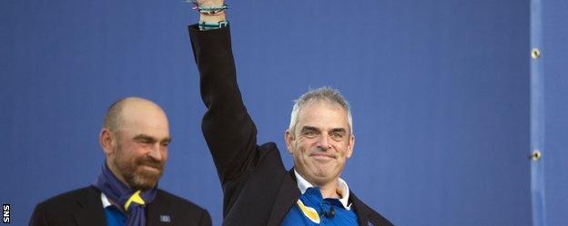 McGinley led Europe to Ryder Cup victory over the USA at Gleneagles