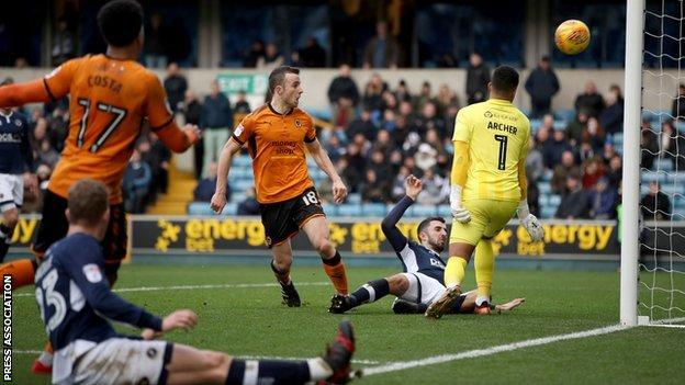 Diogo Jota's equaliser at The Den was his 10th goal of the season