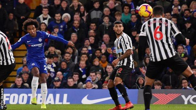 Chelsea Newcastle United Pedro And Willian Goals Give Hosts Victory BBC Sport