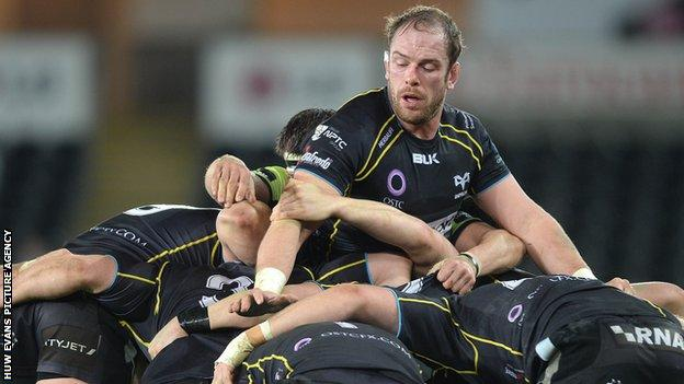 Wales and Ospreys lock Alun Wyn Jones was nominated for the 2015 World Rugby player of the year