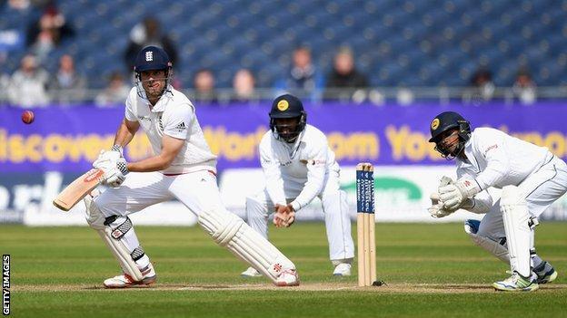 England captain Alastair Cook bats