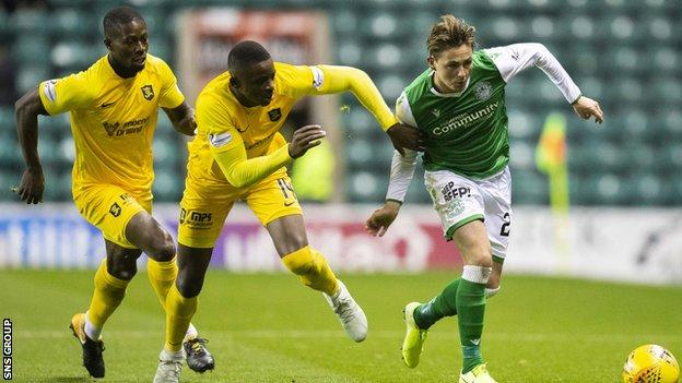 Marvin Bartley (left) says he is surprised by former team Hibs' poor start to the season