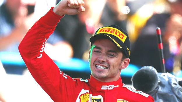 Italian GP: Charles Leclerc wins in Italy after 'dangerous' defending on Lewis Hamilton thumbnail