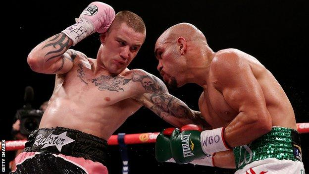 Ricky Burns, left, is a three-weight world champion