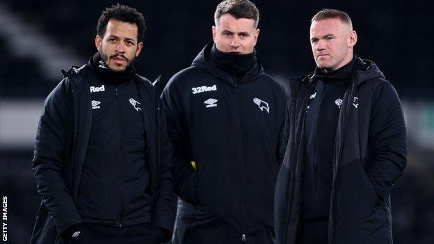 Liam Rosenior (left), Shay Given (centre) and Wayne Rooney (right)