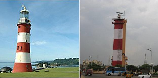 Smeatons Tower and the Madras Lighthouse